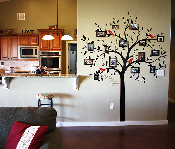 FAMILY TREE WALL DECALS (Vinyl Tree Decal)