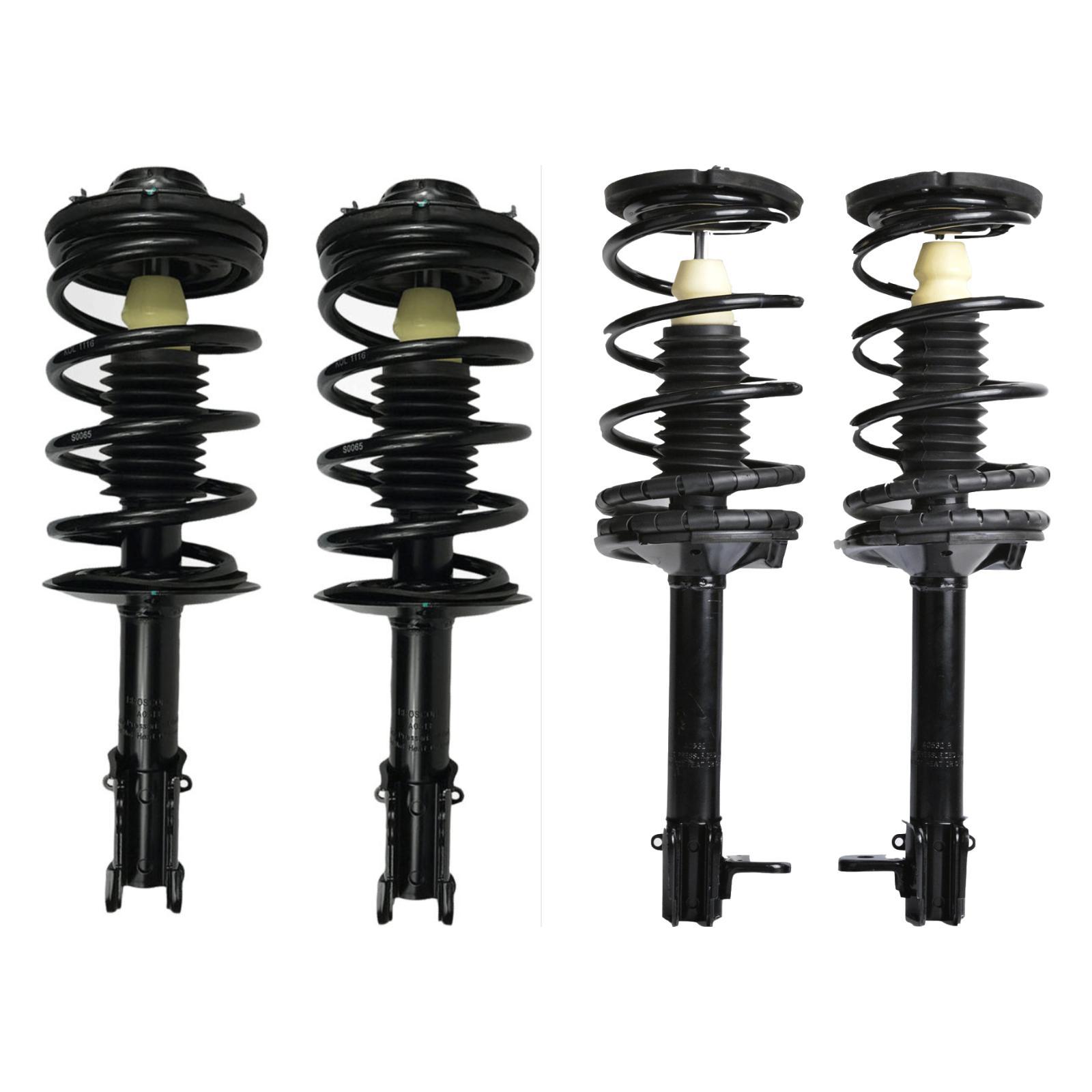 Set of 4 Complete F+R Shock Struts & Springs For Chrysler