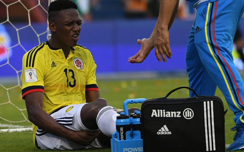 Yerry Mina no viajó, por lesión, a Argentina con la selección Colombia