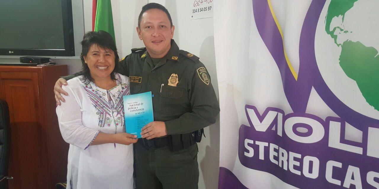 """""""Son 353 conductas objeto de control en el Código de Policía: Fabio Cano, subcomandante policía Casanare."""
