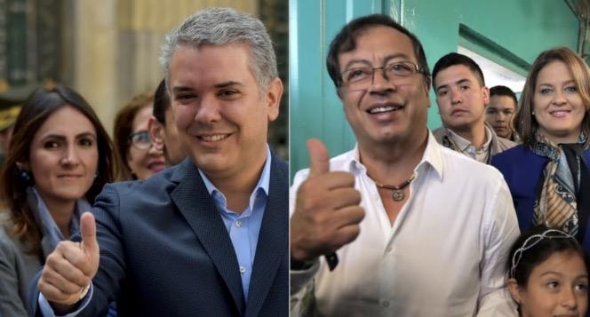 Iván Duque y Gustavo Petro a segunda vuelta presidencial.