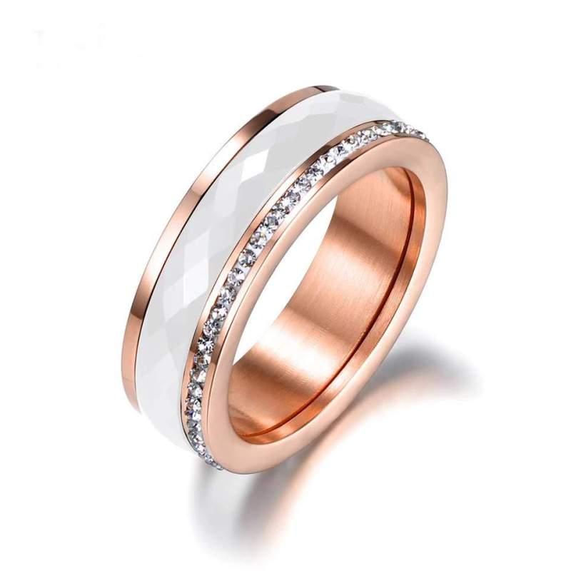 Kristály köves kerámia gyűrű