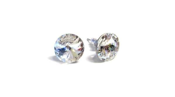 swarovski kristályos pont bizsu fülbevaló