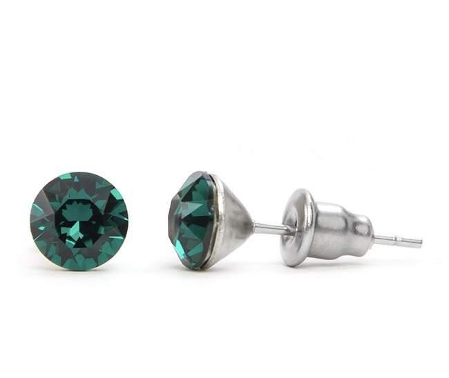 swarovski kristályos shamballa bizsu nemes acél fülbevaló