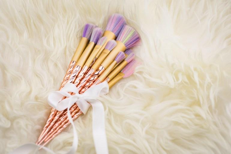 Mega-Trend Einhorn Make-Up Brushes