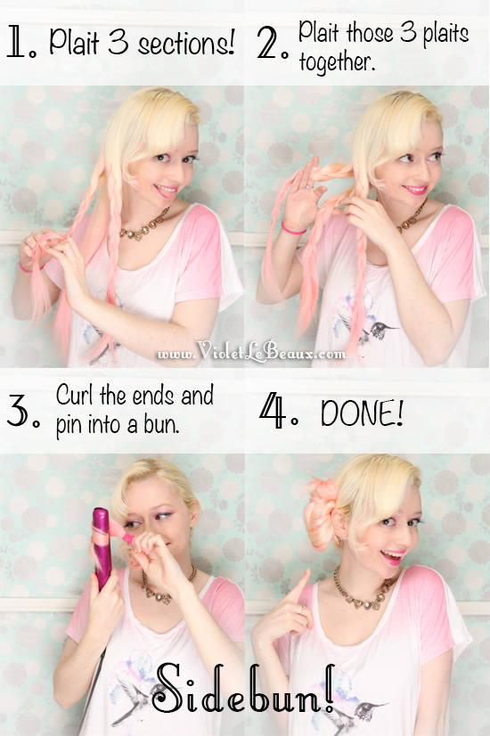 10 Lazy Day Hairstyle Tutorials With RY And GHD Violet LeBeaux