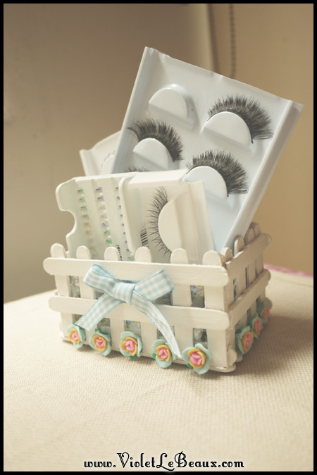 Popsicle Stick Craft Tutorial White Picket Fence Make Up