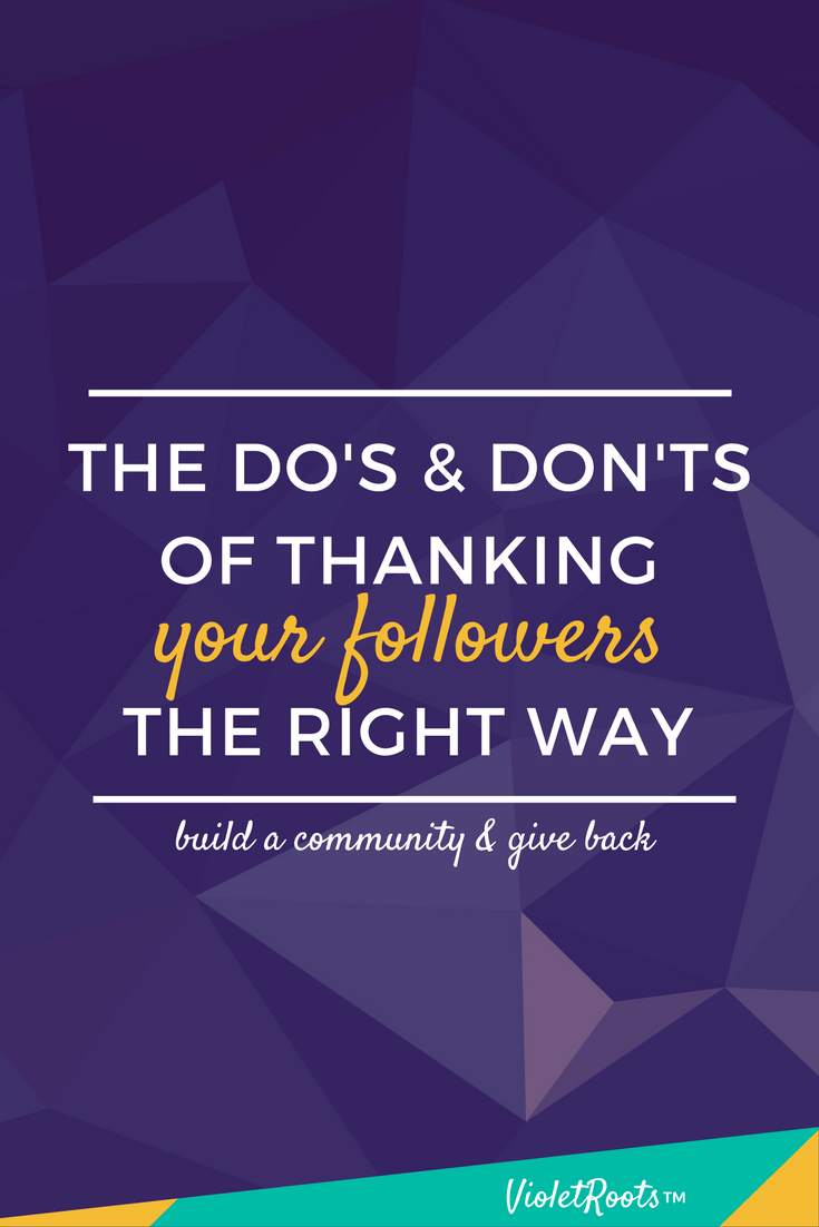 How to Thank Your Followers - How to thank your followers: Whether you're a blogger or just have social media accounts giving a nod to those that support you should be a no brainer.