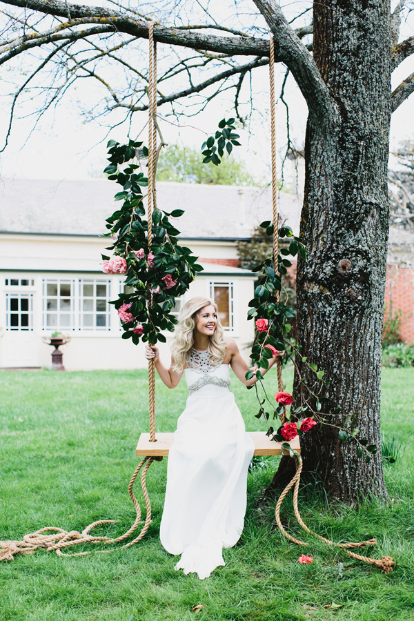 Weddings: Romantic Floral Tree Swings 5