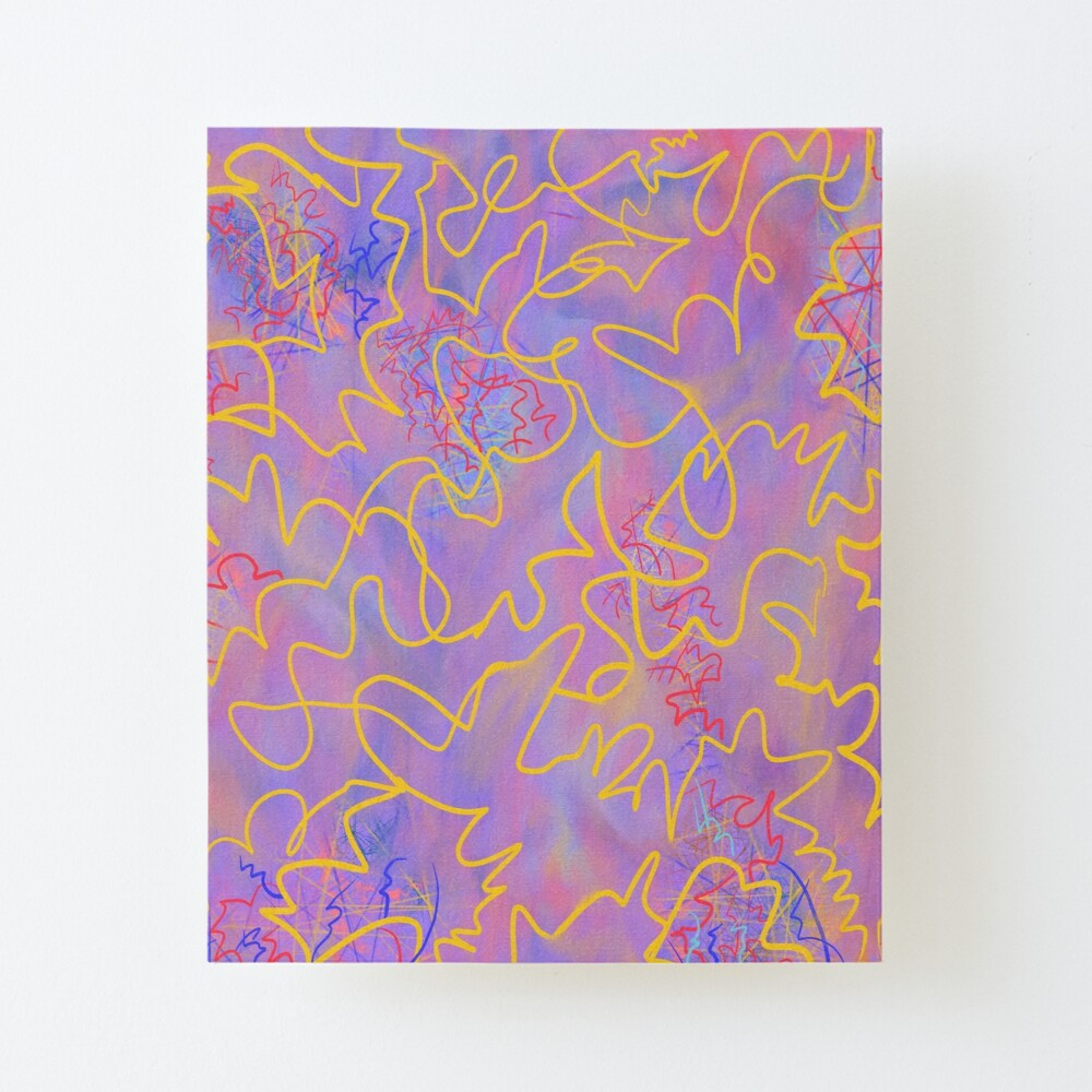 Portfolio - Violet Roots - Abstract Painting - Fancy