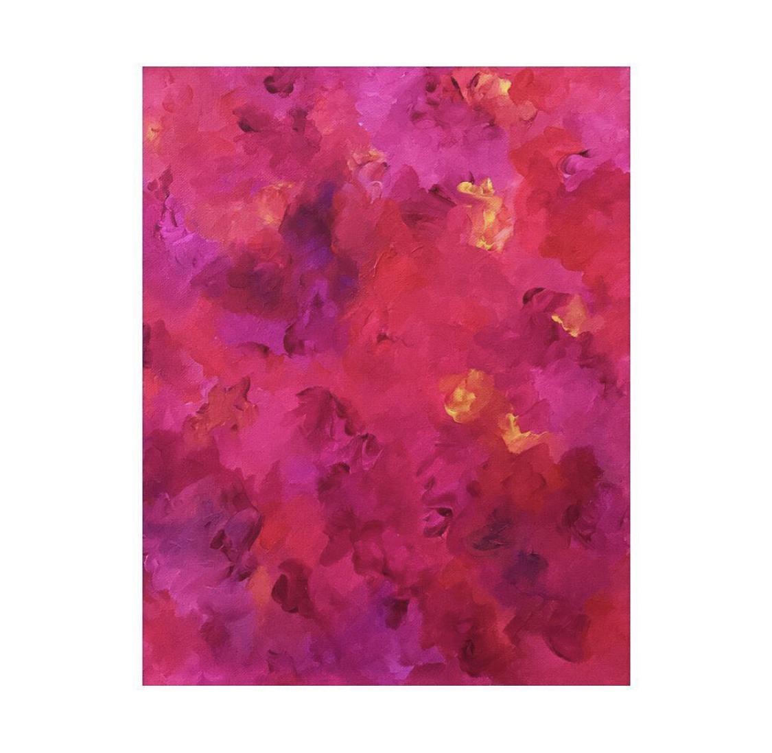 Portfolio - Violet Roots - Abstract Painting - Romantics