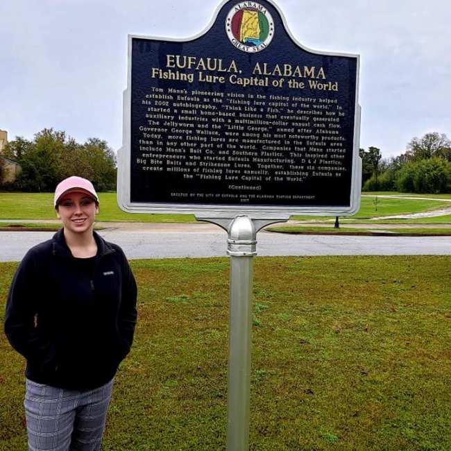 Violet Sky at the Fishing Lure Capital of the World, Eufaula, Alabama