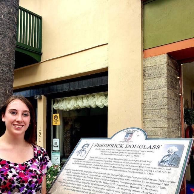 Frederick Douglass Visits St Augustine, FL