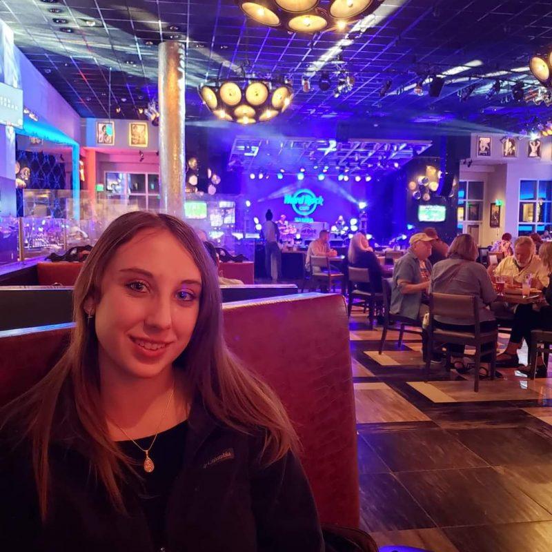 Violet Sky at the Seminole Hard Rock Cafe, Tampa, Florida