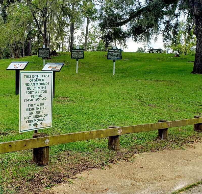 Indian Mound at Chattahoochee River Landing, Chattahoochee, Florida