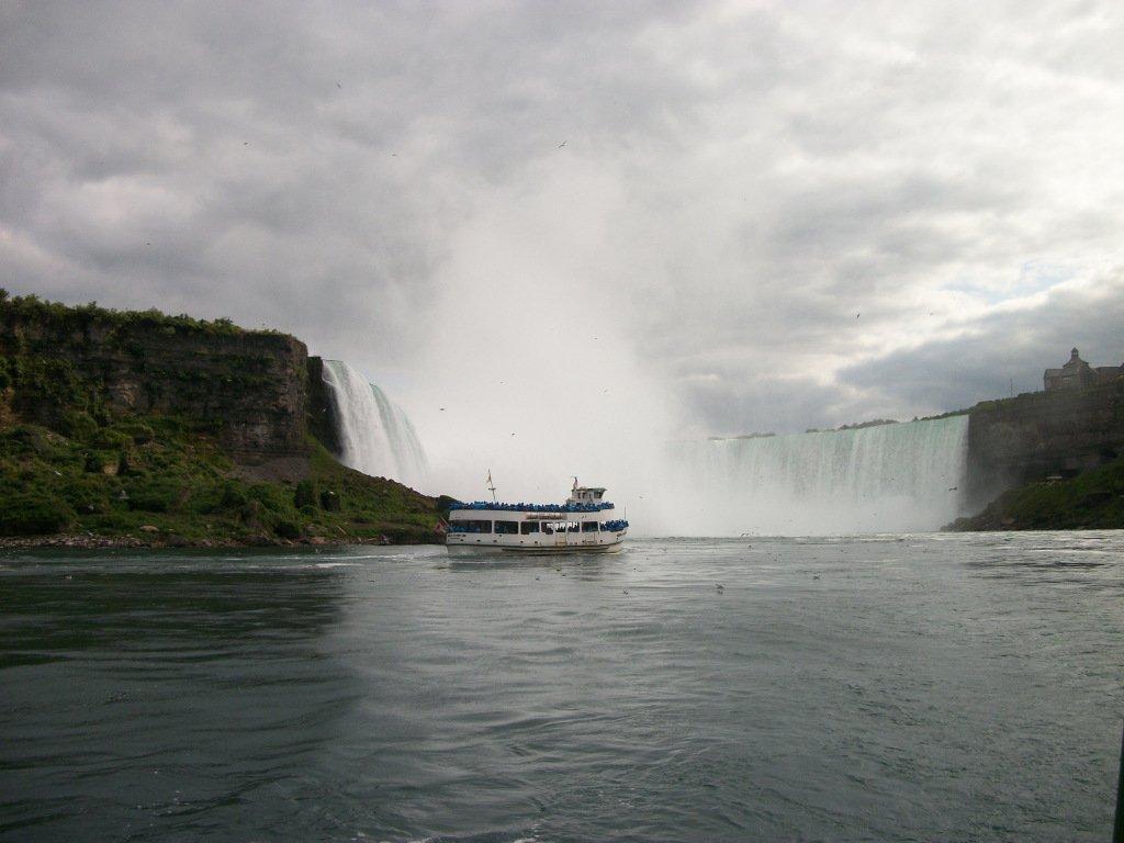 Niagara Falls from Maid of the Mist Tour, Niagara Falls, New York