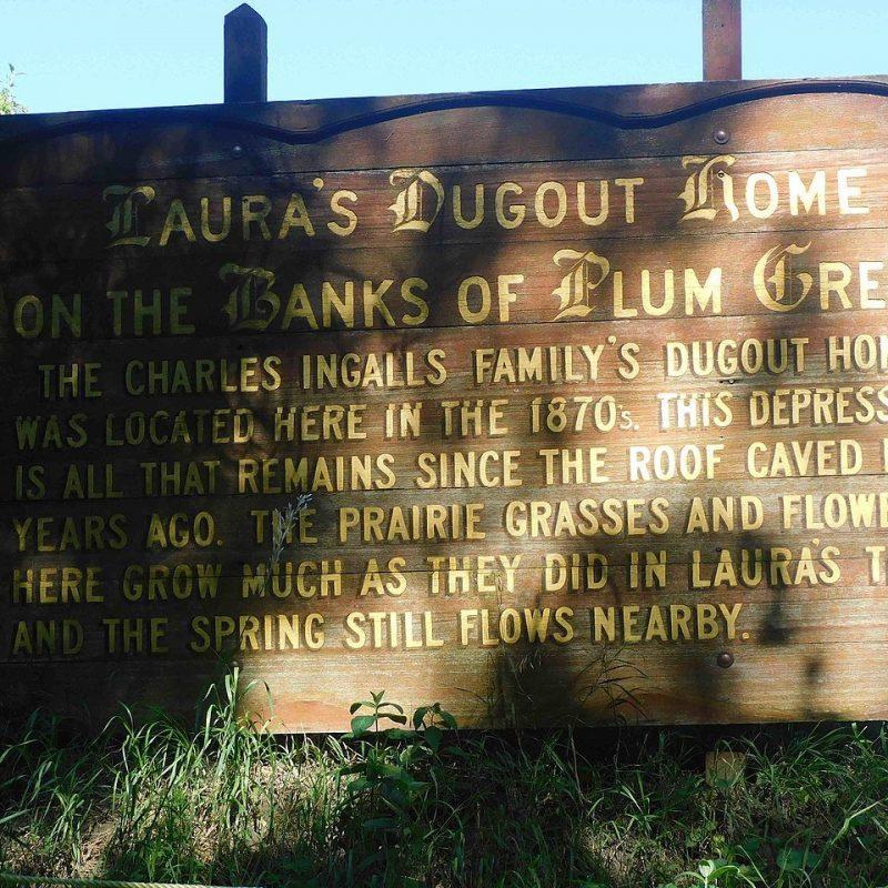 Ingalls Family Dugout, Walnut Grove, Minnesota (Photo Credit: Wikipedia Ec13328)
