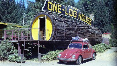 One Log House, California (Photo Credit: Wikipedia)