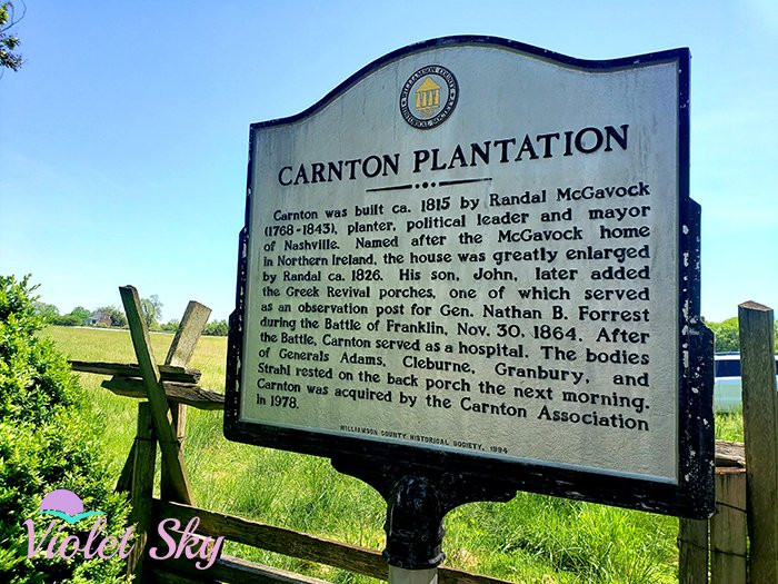 Carnton Plantation, Franklin, Tennessee (Photo Credit: Violet Sky)