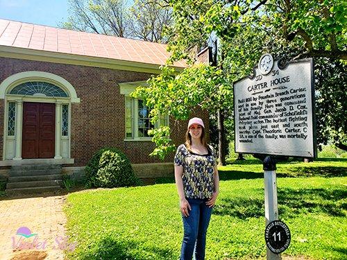Violet Sky at the Carter House, Franklin, Tennessee (Photo Credit: Violet Sky)