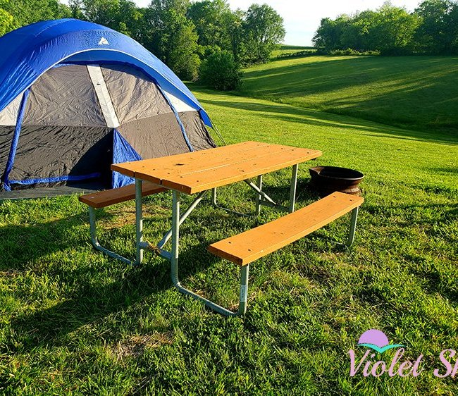 Tent Site at Nashville East/Lebanon KOA (Photo Credit: Violet Sky)