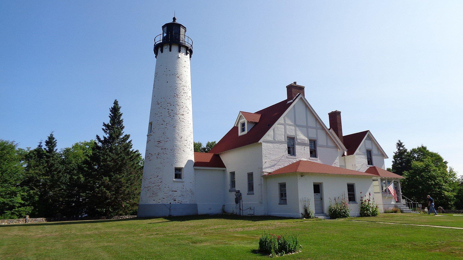 Point Iroquois Lighthouse, Brimley, Michigan (Photo Credit: Wikipedia)