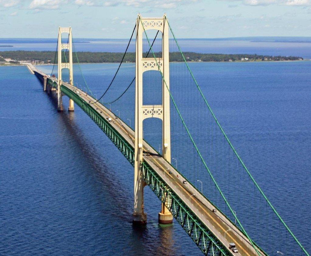 Mackinac Bridge, Mackinaw City, Michigan (Photo Credit: Wikipedia)
