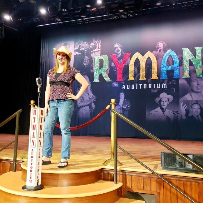 Violet Sky at the Ryman Auditorium, Nashville, Tennessee (Photo Credit: Violet Sky)