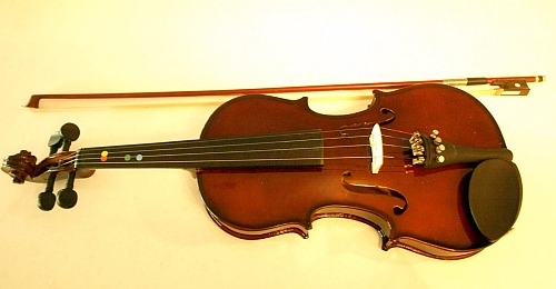A violin-shaped object