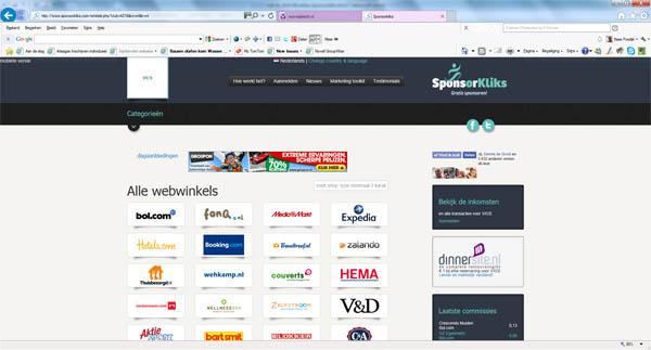 SponsorKliks website