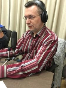 Szilágyi Árpád, a DTM egyik korábbi adásának rögzítésekor - fotó: Pintér Róbert