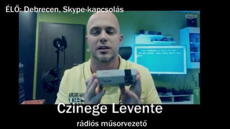 Czinege Levente rádiós műsorvezető.