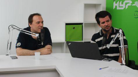 Herpai Gergely (BadSector), a PS4Pro.eu újságírója és Szalay Dániel újságíró a DTM 2017.08.29-i adásában. Fotó: Nemes Cilla