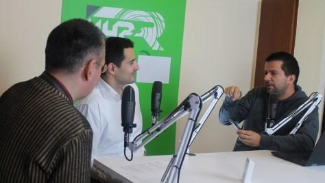 Szalay Dániel újságíró, Varga Zsigmond, az SAP magyarországi üzletfejlesztési vezetője és Szilágyi árpád műsorvezető. Fotó: Nemes Ilona