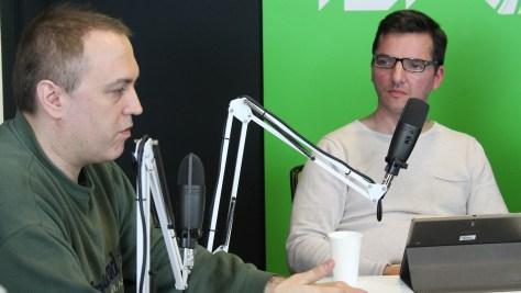 Herpai Gergely (Bad Sector) újságíró és Justin Viktor innovátor. Fotó: Nemes Ilona