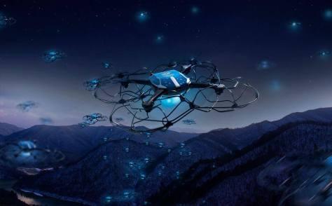 A téli olimpia drónbemutatója