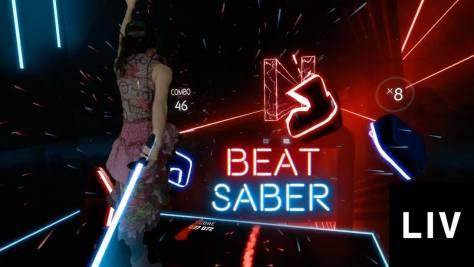 Kép a Beat saberből. Forrás: LIV/Beat saber