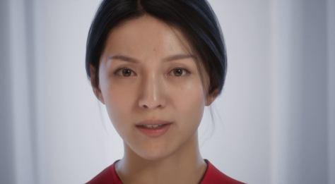 Siren, a digitális ember arca. A hölgy csak a számítógépben létezik, az Unreal Engine-nel hozták létre.