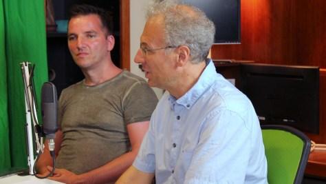A kép előterében Bódi Zoltán netnyelvész. Fotó: Nemes Ilona