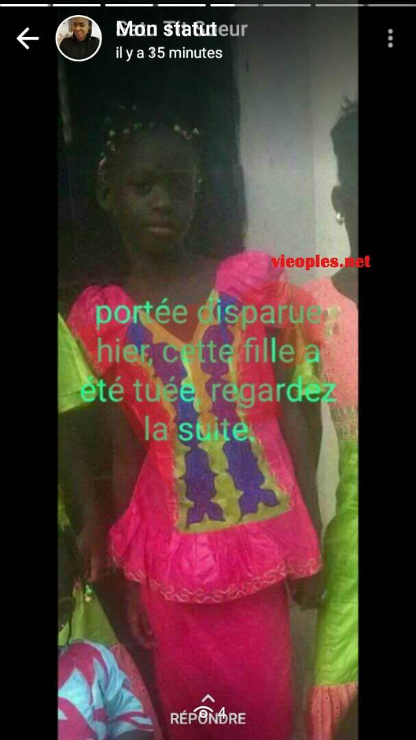 Les images de la fillette tuée à Mbao.