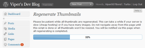 Regenerate Thumbnails Screenshot