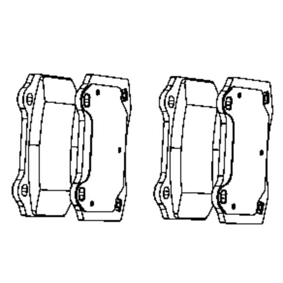 2008 Jeep Grand Cherokee SRT8 Rear Brake Pad Set