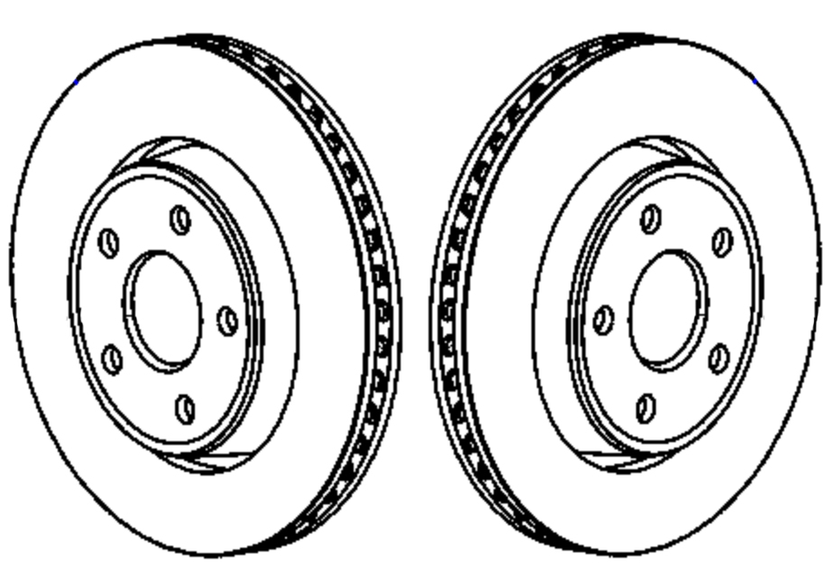 2008 Jeep Grand Cherokee SRT8 Front Rotor Pair