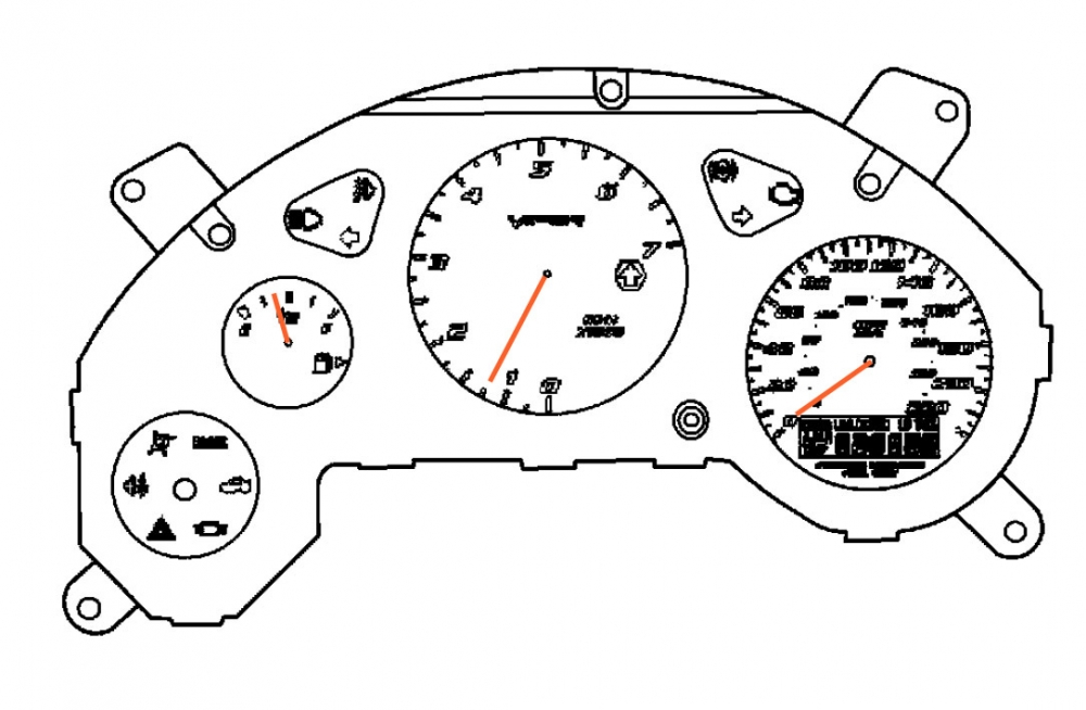 000; 2003-2006 Dodge Viper Instrument Cluster Speedometer
