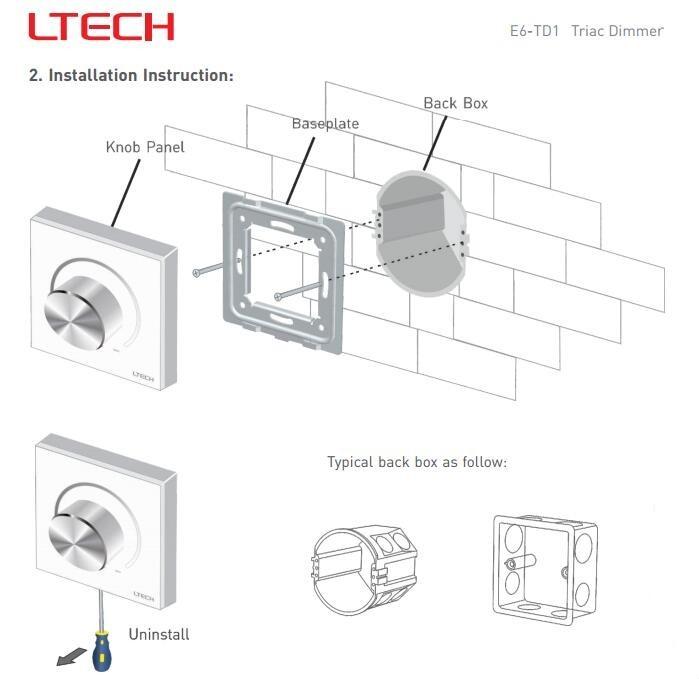 Ltech E6-TD1 Triac Dimmer AC 200-240V