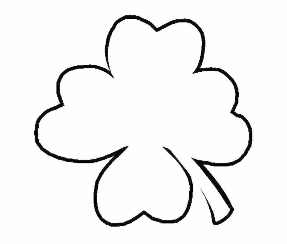 Shamrock Outline Four Leaf Clover Clip Art Transparent Png Download 1070818 Vippng