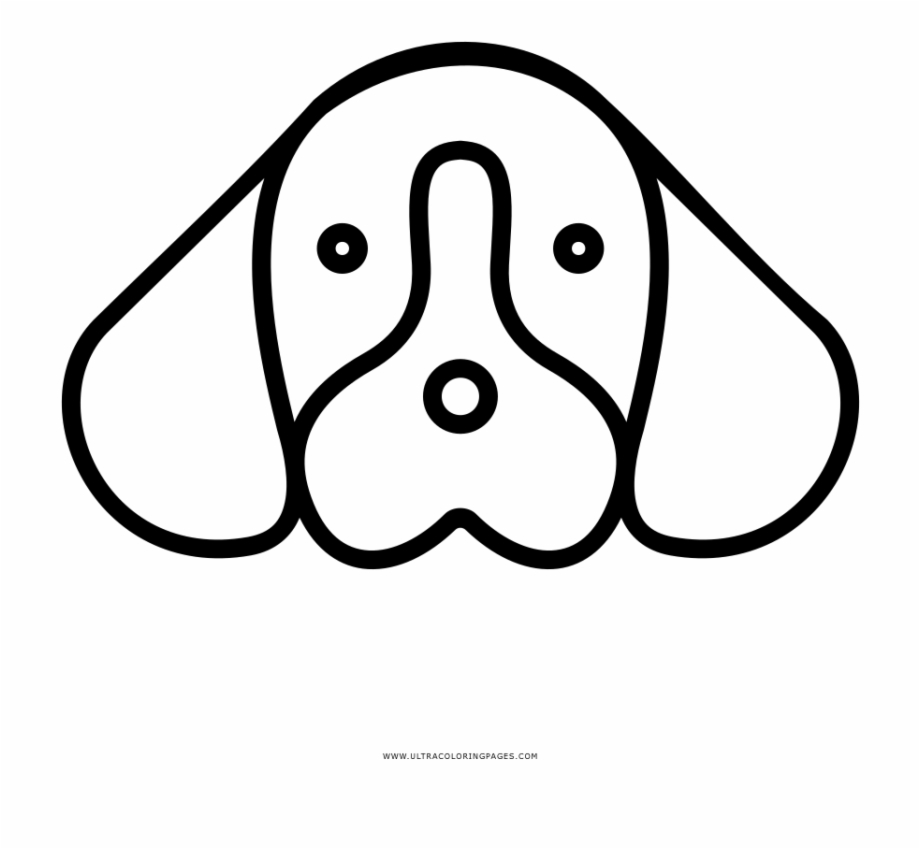 Dog Face Coloring Page Dogs Face Colouring Pages Transparent Png Download 1342503 Vippng