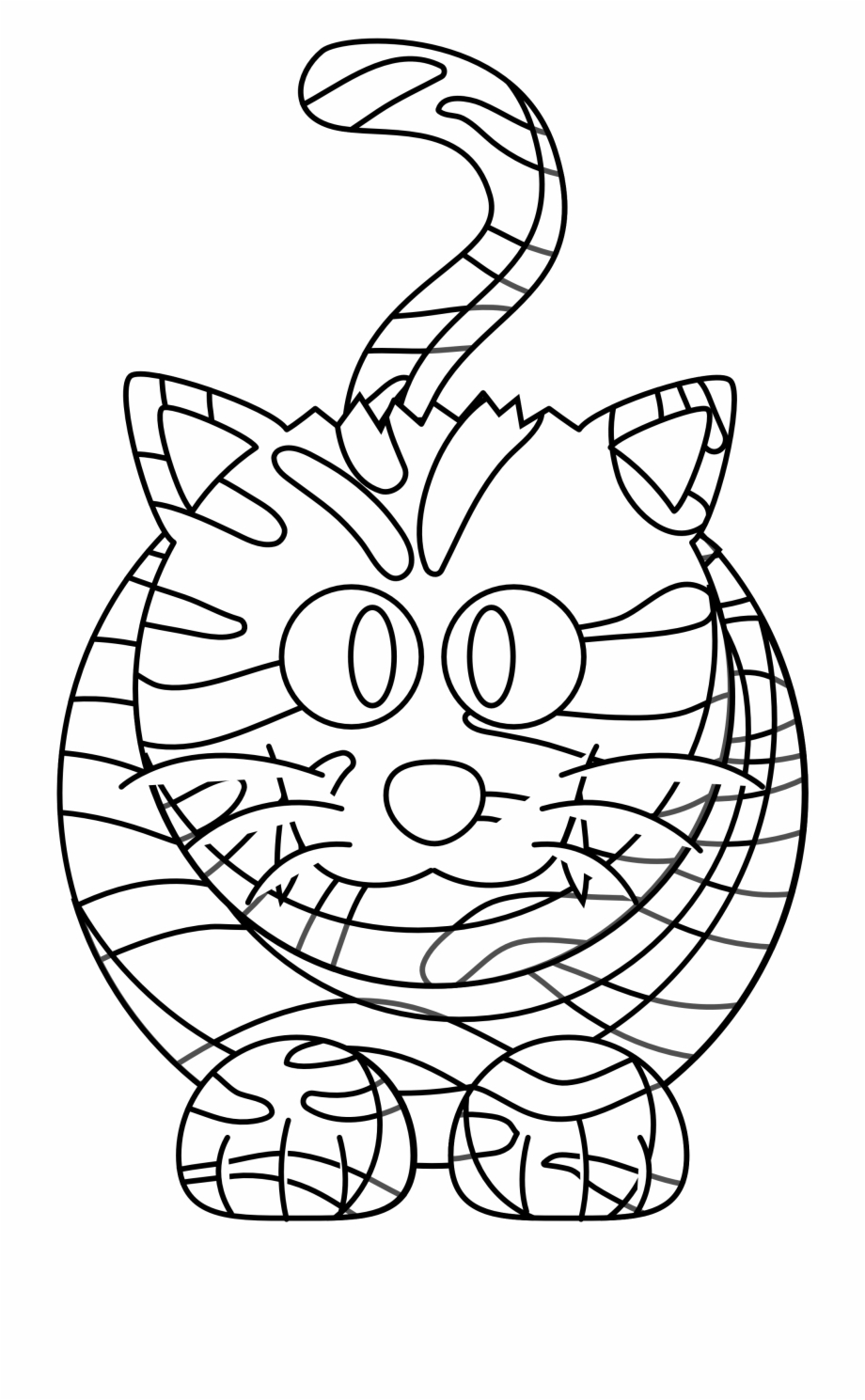 Tiger Black And White Tiger Clipart Black And White Cartoon Transparent Png Download 2330195 Vippng