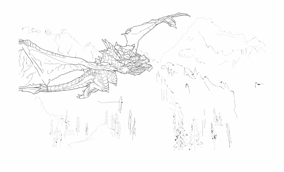 Skyrim Colouring Pages With Transparent Backgrounds