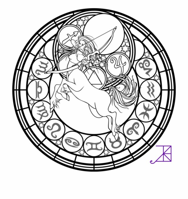 Heart And Lungs Printable Coloring Page With Kingdom - Sagittarius